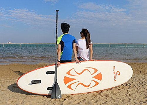 WOWSEA Tabla Hinchable Paddle Surf, 2018 Paddle Board Hinchable con tamaño 320 * 81 * 15cm, Carga hasta 135kg - Naranja: Amazon.es: Hogar
