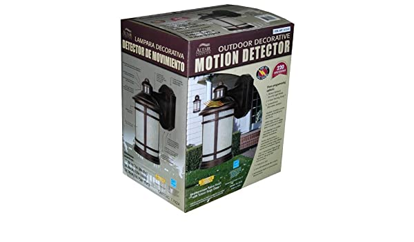 Amazon.com : Altair Outdoor Decorative Motion Detector Light : Security Lighting : Camera & Photo