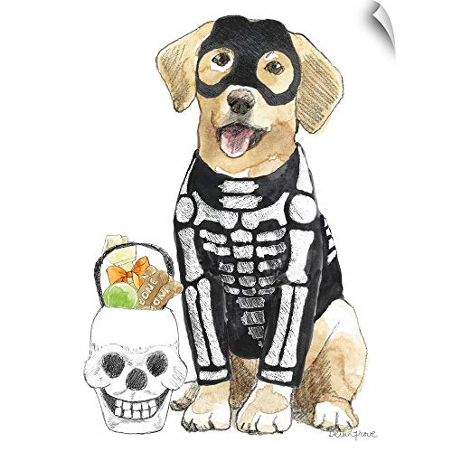 CANVAS ON DEMAND Halloween Pets VII Wall Peel Art Print, 30