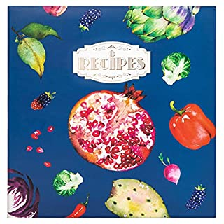 COFICE Recipe Binder – Full 8.5x11 Page, Recipe Books to Write In Ring Binder, Vegetables Design