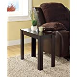 Monarch Specialties I 3111 Cappuccino Finish Accent Side Table