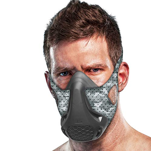 TEC Training Mask - 16 Breathing Levels, Maximizes Workout and Achieves Benefit of High Altitude Elevation Training for Running, Cycling, Boxing, HIIT; Increases Cardio, Endurance and Stamina]()