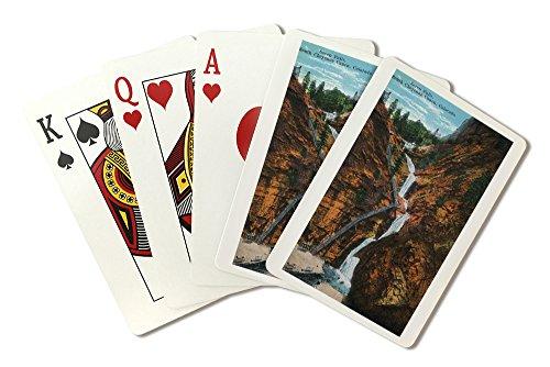 Seven Falls Colorado Springs - Colorado Springs, Colorado - South Cheyenne Canyon, Seven Falls View (Playing Card Deck - 52 Card Poker Size with Jokers)