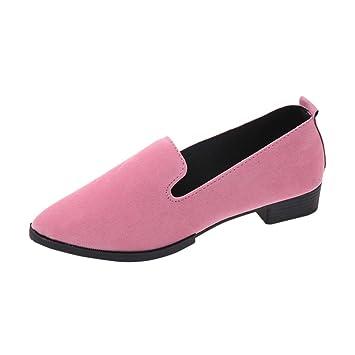 Mocasines mujer , ❤️Amlaiworld Sandalias planas de mujer Mocasines de moda sólida Calzado Zapatos al aire libre zapatillas Mujer Bailarinas (Rosado, ...
