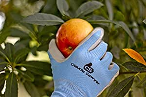 Gardening Gloves Women, 4 pairs, Hypoallergenic, Nitrile Coated Garden Gloves Protect Against Cuts and Dirt, Breathable, Stretchable Nylon, Blue and Purple, Best for Garden, Household or Auto