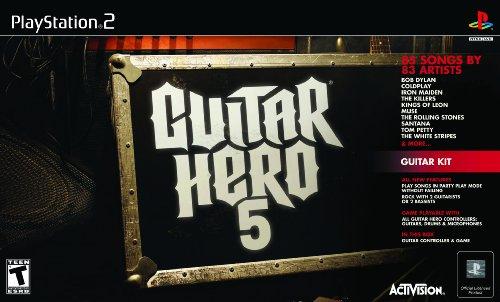 PS2 Guitar Hero 5 Guitar Bundle (Ps2 Bundle Guitar Hero)