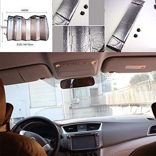 Namgiy Car Sun Shade Front Window Sun Shade Aluminum Foil Sun Block For SUV Truck Van 140*70CM