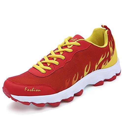 Sufoen 男女兼用 軽量 ランニングシューズ スポーツ靴 スニーカー カップルシューズ ファッション 通気