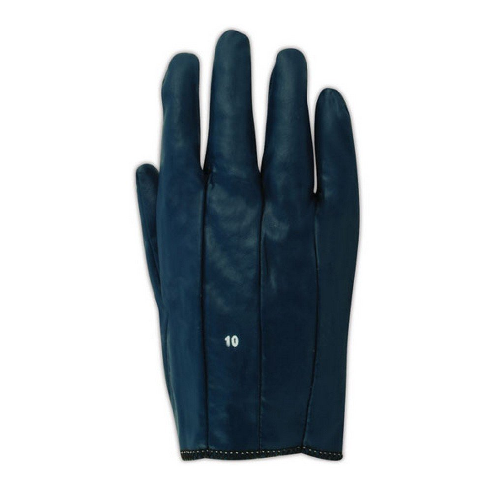 0.25 Height Pack of 12 Ansell 352275 Magid Blue Magic 3522 Nitrile Gloves Size 7.5 Blue 4 Width 9 Length