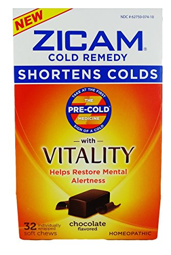 Soft Chews Chocolate (ZICAM Cold Remedy With Vitality Chocolate, 32 Soft)
