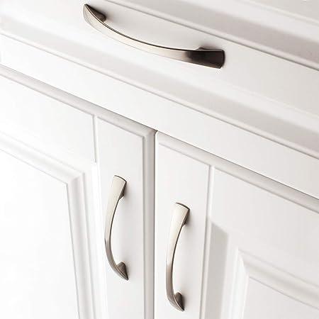 Koofizo® 1802 - Tirador para puertas o cajones, ideal para armarios de cocina, cómodas de dormitorio o muebles de baño, plateado: Amazon.es: Bricolaje y herramientas