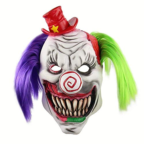 Halloween Clown Masks Scary Zombie Latex Mask Party Terror Devil Ghoul Predator Realistic for Carnaval Easter Party -