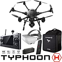 Yuneec Typhoon H RTF Hexacopter Drone Pro FPV Experience Bundle with CGO3+ 4K UHD Camera ST16 Controller Wizard Wand SkyView Headset 5400 mAh LiPo Battery and Backpack