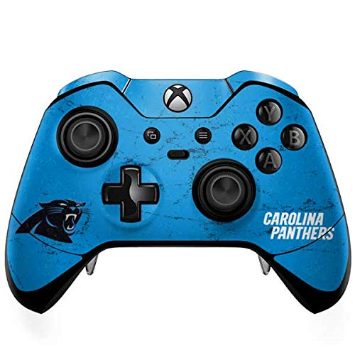 (Skinit Carolina Panthers Distressed Alternate Xbox One Elite Controller Skin - Officially Licensed NFL Gaming Decal - Ultra Thin, Lightweight Vinyl Decal Protection)