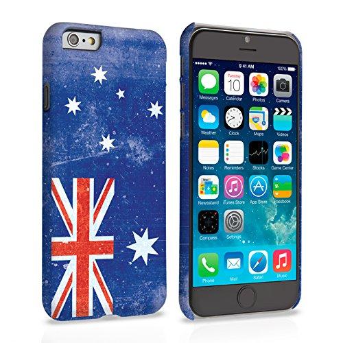 Caseflex iPhone 6 Plus / 6S Plus Hülle Retro Australien Flagge Hart Schutzhülle (Kompatibel Mit iPhone 6 Plus / 6S Plus - 5.5 Zoll)