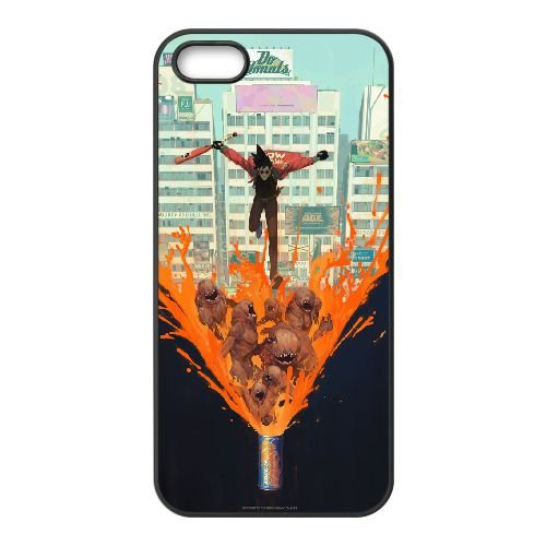 Sunset Overdrive 13 coque iPhone 4 4s cellulaire cas coque de téléphone cas téléphone cellulaire noir couvercle EEECBCAAN05764