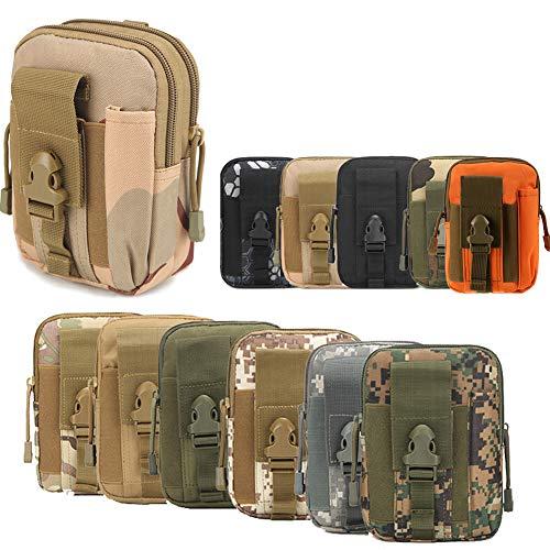 ZhaoCo Taktische Hüfttaschen, Nylon Militär Kompakt MOLLE EDC Tasche Gürteltasche Beutel Taille Taschen für Gadget-Dienstprogramm Handy Camping Wandern und Reisen