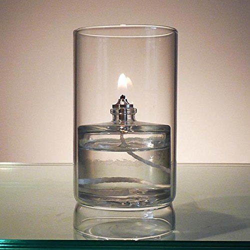 Firefly Ethereal Clear Glass Oil Lamp for Fine Dining & Restaurants by Firefly