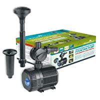 All Pond Solutions ECO Adjustable Pond Water Fountain Pump, 2300L/H Flow Rate
