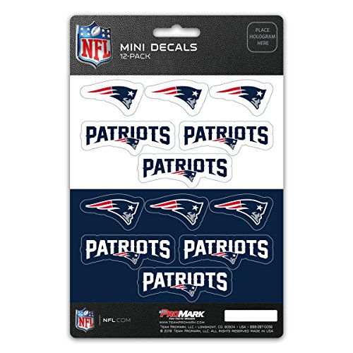 New England Patriots Stickers (ProMark NFL New England Patriots DecalDecal Set Mini 12 Pack, Team Colors, One)