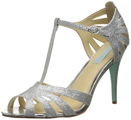 Blue by Betsey Johnson Women SB-Tee Dress Sandal,Silver,12 M US