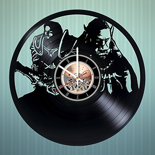 World of Warcraft HANDMADE Vinyl Record Wall Clock - Home room or Kitchen room wall decor - Gift ideas for men, brother, boys – Unique Art Design
