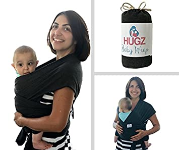 Hugz Baby Wrap Carrier Sling For Newborns Toddlers Infants