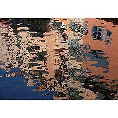 Isolated Close Up of Ripples on the Surface of the River Reflection of Building on Ripples in River, With Expert Quality, Delightful Visual