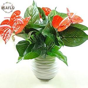 1Bunch Artificial Flower Fake Anthurium Bouquet Bonsai Wedding Arrangement Christmas Home Decoration 103