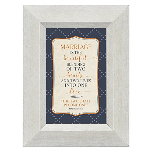 Marriage Beautiful Blending of Two Hearts 4.5 x 6 Inch Framed Easel Back Sign Plaque