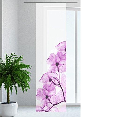 JEMIDI Flächenvorhang - Living- Schiebegardine Flächen Vorhang Raumtrenner Gardine Vorhang Schal Design 38