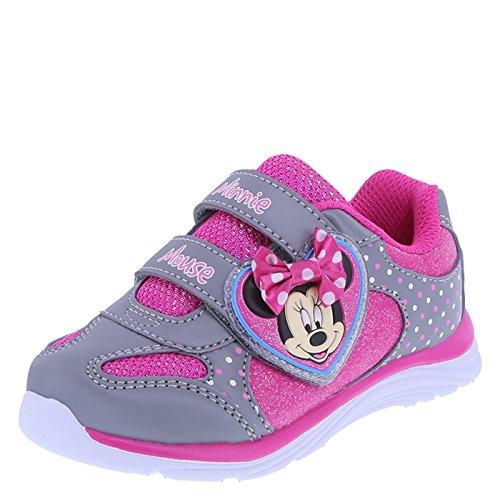 Minnie Mouse Bowtique Girls' Grey Pink Girls' Minnie Heart Runner 12 Regular for $<!--$17.99-->
