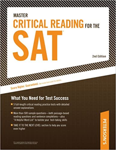 amazon master critical reading for the sat what you need for test