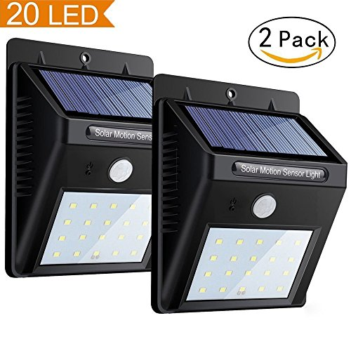 9 Led Solar Power Rechargeable Pir Motion Sensor Security Light