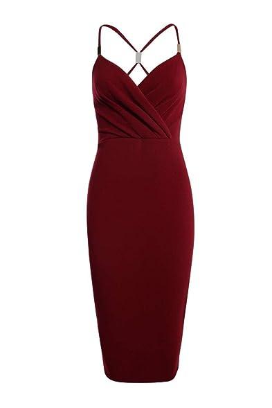 Boohoo Womens Kirsty Trim Wrap Front Midi Dress In Wine Size 2