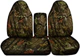 60 40 split camo seat covers - 1997-2000 Ford F-150 Camo Truck Seat Covers (Front 40/60 Split Bench) with Opening Center Console/Solid Armrest: Brown Real Tree Camouflage (16 Prints) 1998 1999 F-Series F150