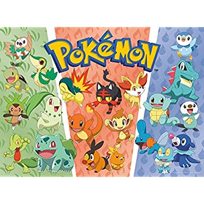 Buffalo Games - Pokemon - Partners: Grass, Fire, Water - 100 Piece Jigsaw Puzzle, Multi: Toys & Games
