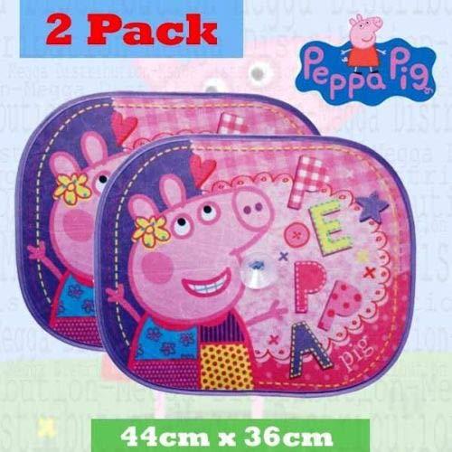 2x Peppa Pig Kids Baby Kinder Jungen Mädchen Auto-Fenster Zusammenklappbar UV-Sicherheit Sun Shades Mesh Visier Schutz Jalousien Global Industries