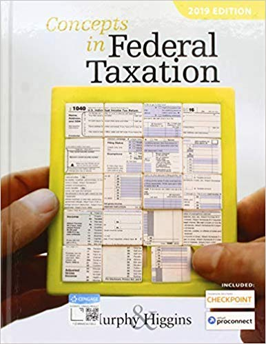 [1337702625] [9781337702621] Concepts in Federal Taxation 2019 (with Intuit ProConnect Tax Online 2017 and RIA Checkpoint 1 term (6 months) Printed Access Card) 26th Edition-Hardcover