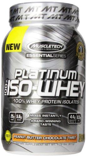 MuscleTech Платина 100% Сывороточный Дополнение, Арахисовое масло Шоколад Twist, 1,79 фунта