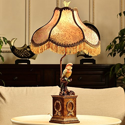 HH European Style Desk Lamp Neo-classical Study Bedroom Bedside Living Room Decoration Table Lamp by FJB (Image #5)