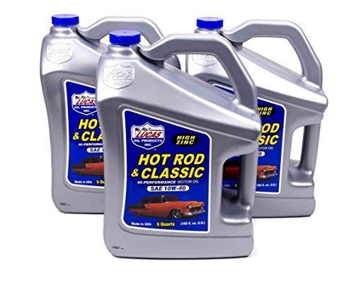 Classic Car Oil - Lucas Oil Hot Rod and Classic Car 10W40 Motor Oil 5 qt Case Of 3 P/N 10683-3