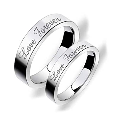 28a6aedde3 Buy Peora Silver Stainless Steel Love Forever Rings for Girls and Boys  Online at Low Prices in India | Amazon Jewellery Store - Amazon.in