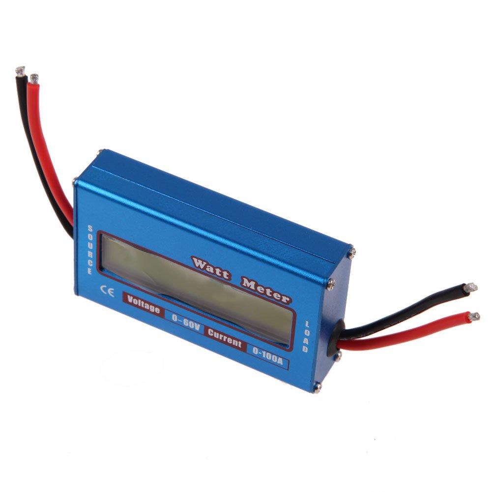 per energia solare ed eolica Amazingdeal365,/semplice analizzatore di alimentazione cc a 12/V 24/V dati espressi in Watt con monitor Volt e Ampere