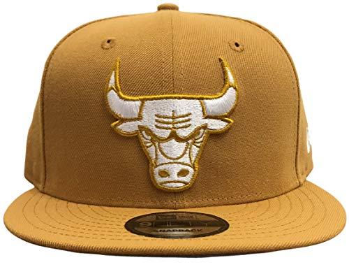 New Era NBA Chicago Bulls Custom Snapback (Tan, OSFA)