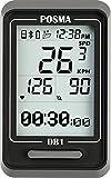 POSMA DB1 BLE4.0 サイクリングコンピューター、 速度計、オドメーター(積算距離計)、スマートフォン技術との融合でiPhoneと Androidによる GPS (オプションでBHR20 心拍計 および BCB20 スピード/ケイデンスセンサー組み合わせ選択可能)