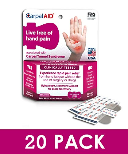 CarpalAID Hand Pain Disposable Patch (20 Count, Small Hand) by CarpalAID