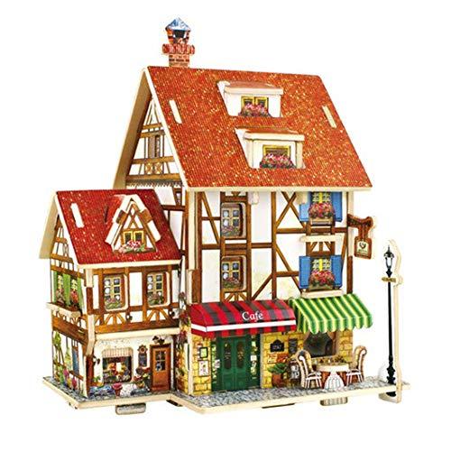 [해외]3D Wooden Puzzle for Home DecorConstruction ToyModeling KitSchool ProjectManual Model Coffee Shop / 3D Wooden Puzzle for Home DecorConstruction ToyModeling KitSchool ProjectManual Model, Coffee Shop