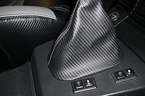 Black Alcantara-Blue Thread RedlineGoods Shift Boot Compatible with BMW 5-Series E28 1982-88