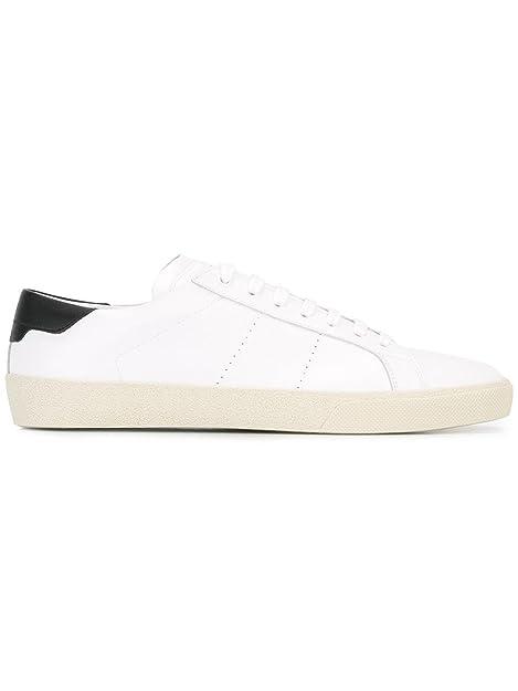 6b279f3071 Saint Laurent Sneakers Uomo 421570CN4409070 Pelle Bianco/Nero ...